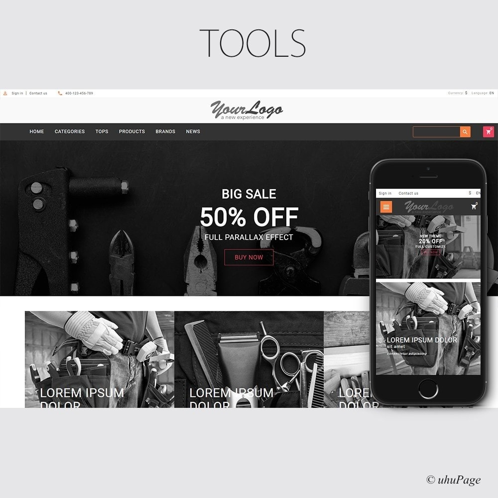 theme - Auto & Moto - UP Tools Store - 1