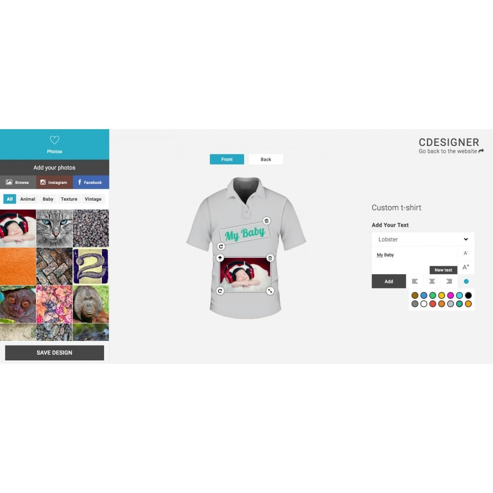 module - Bundels & Personalisierung - Product Customization Designer - Custom Product Design - 3