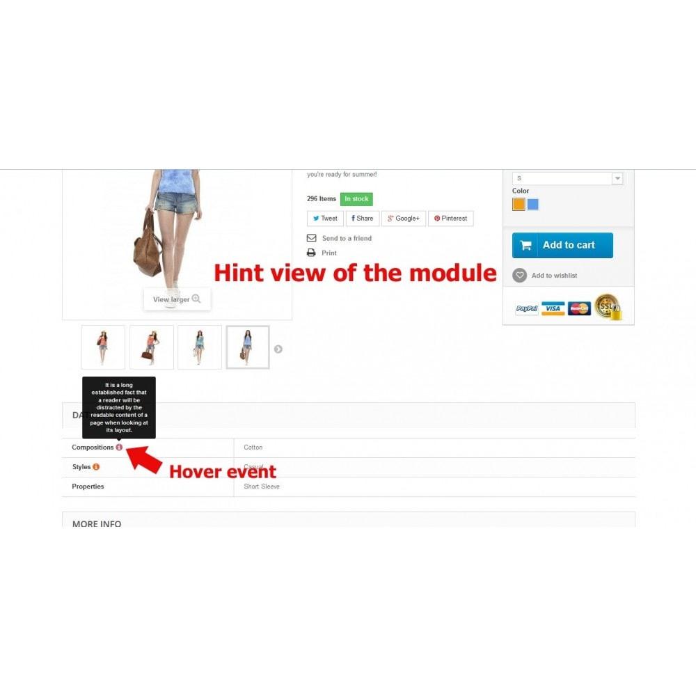 module - Страница продукта - Подсказки для свойств на странице товара - 8