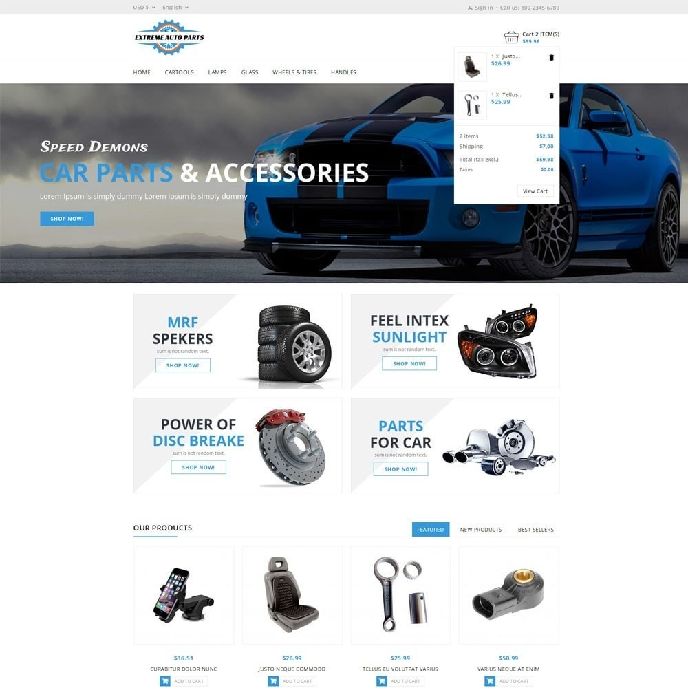 theme - Automotive & Cars - Extreme Autoparts store - 6