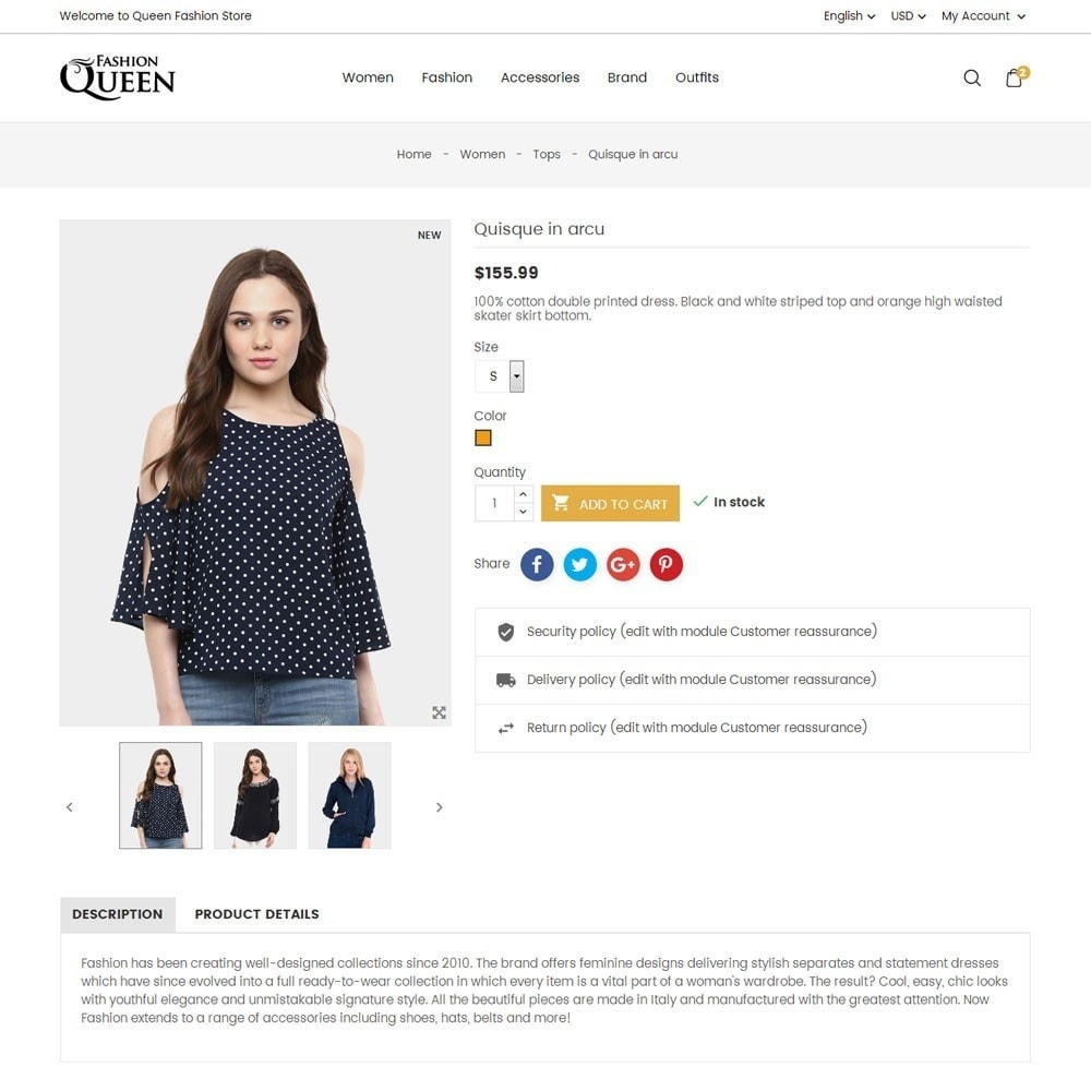 theme - Moda y Calzado - Queen Fashion Store - 7