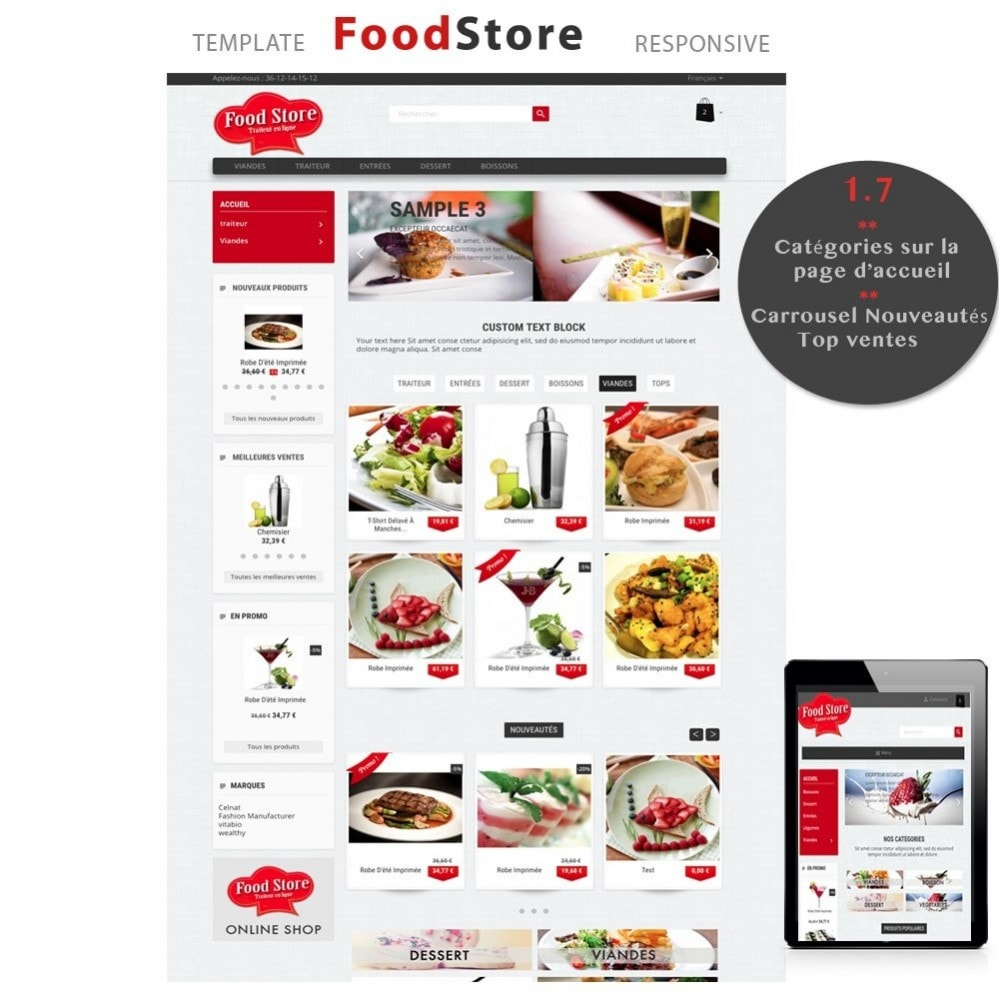 theme - Alimentation & Restauration - Foodstore - 1