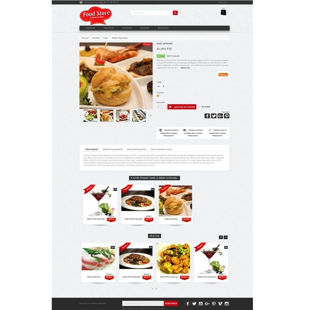 theme - Alimentation & Restauration - Foodstore - 3