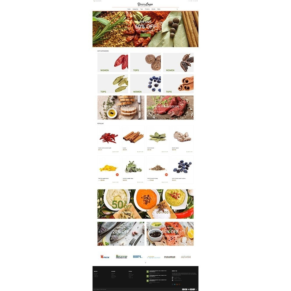 theme - Food & Restaurant - UP Spice Store - 2