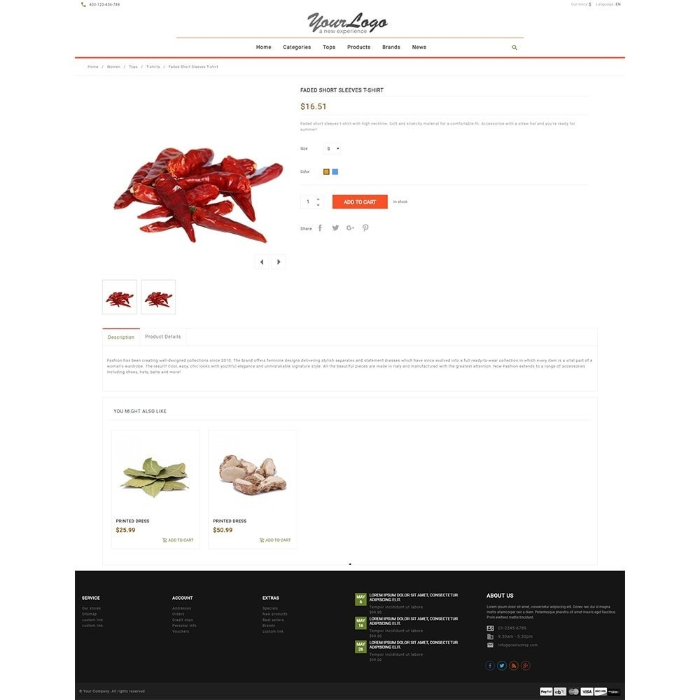 theme - Alimentation & Restauration - UP Spice Store - 8