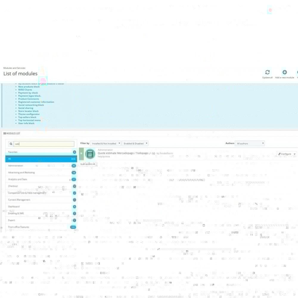 module - Płatność kartą lub Płatność Wallet - Calc Quote Mercadopago / Todopago - 3