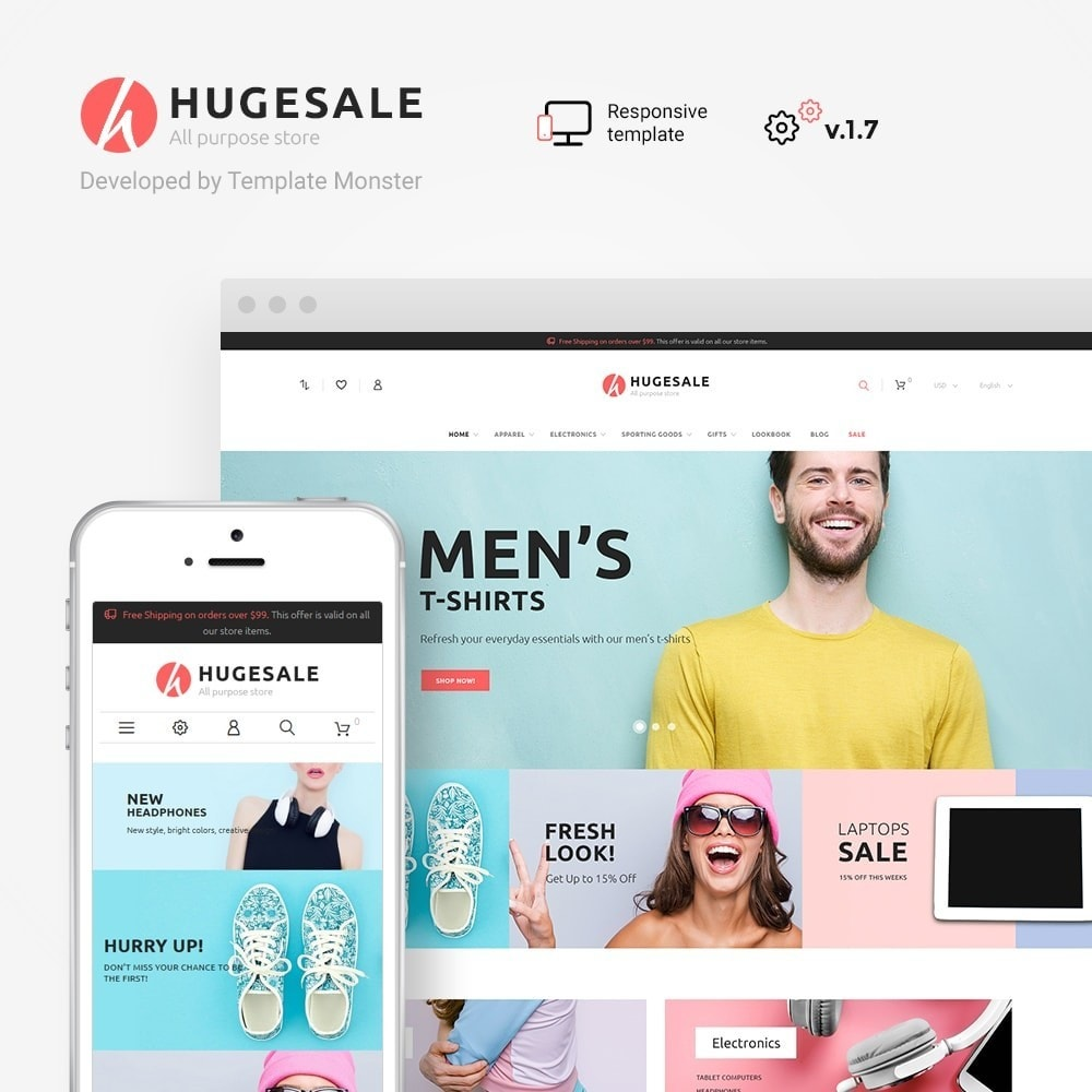 theme - Fashion & Shoes - Hugesale 1.7 - 1
