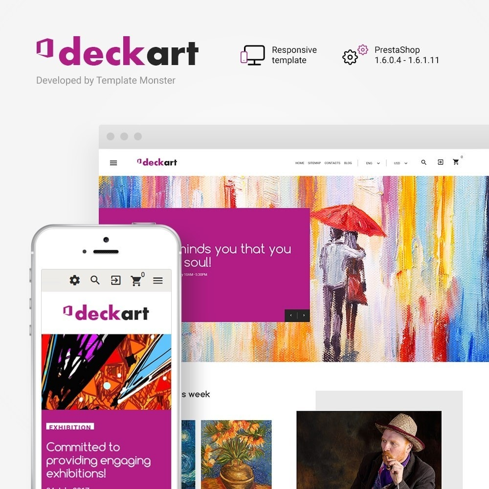theme - Kultura & Sztuka - DeckArt - Responsive Theme - 1
