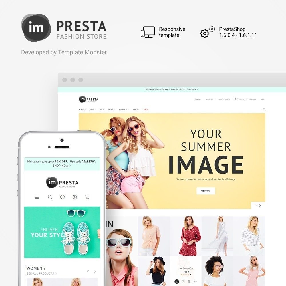theme - Moda & Calzature - Impresta Fashion - PrestaShop Responsive Theme - 1