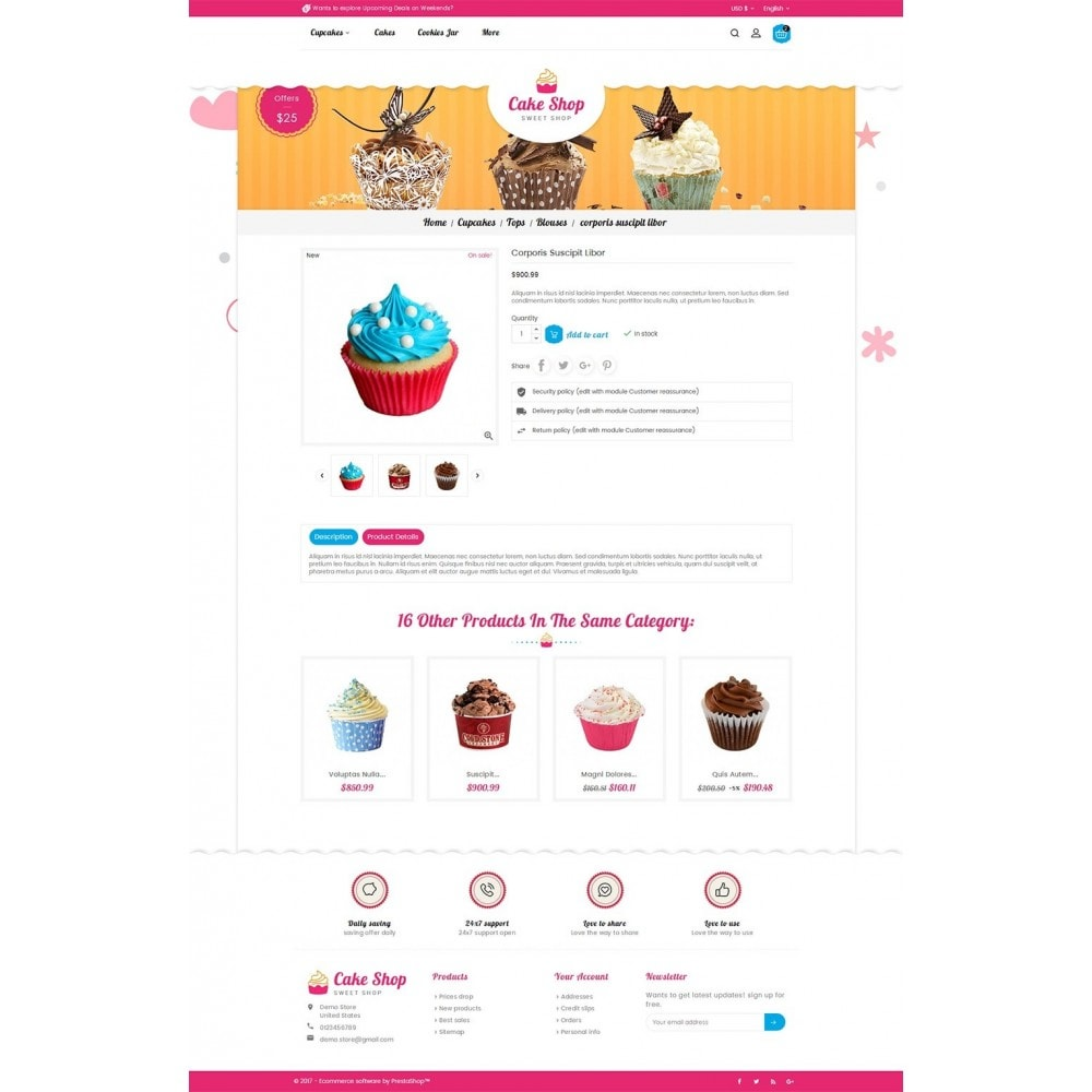 theme - Food & Restaurant - Cake Shop - 5