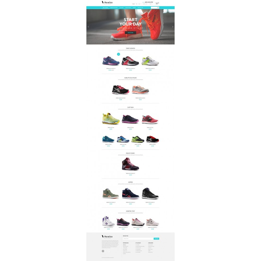 theme - Мода и обувь - Reebo - 2