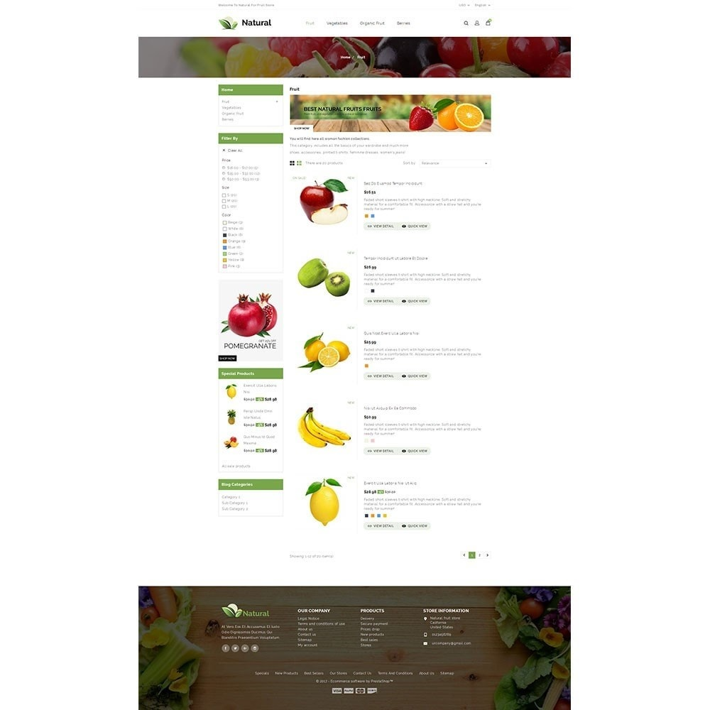 theme - Продовольствие и рестораны - Natural Fruit Store - 4