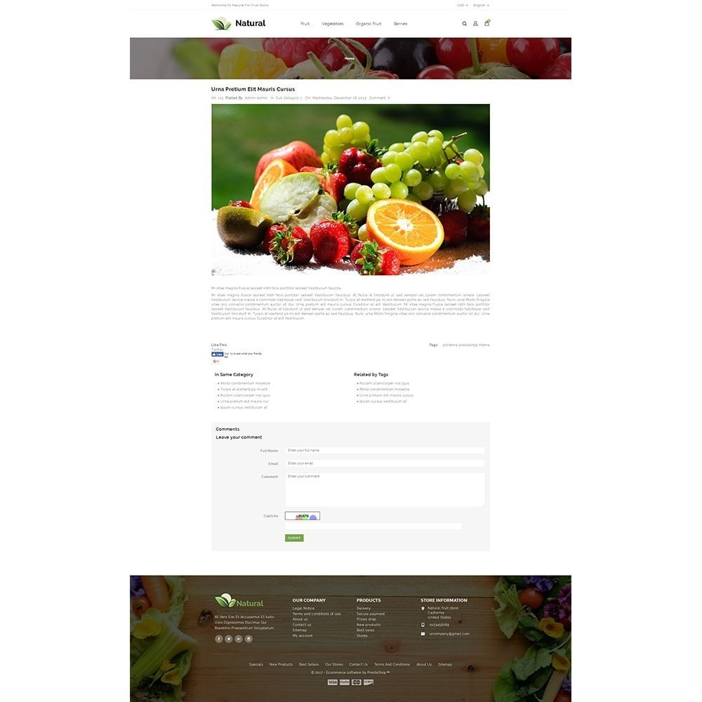 theme - Food & Restaurant - Natural Fruit Store - 8