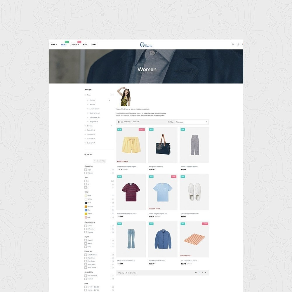 theme - Mode & Schoenen - O2 Fashion Store Responsive Multiple Prestashop Theme - 2