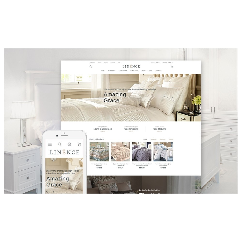 theme - Мода и обувь - Linence - Bed Linen - 2
