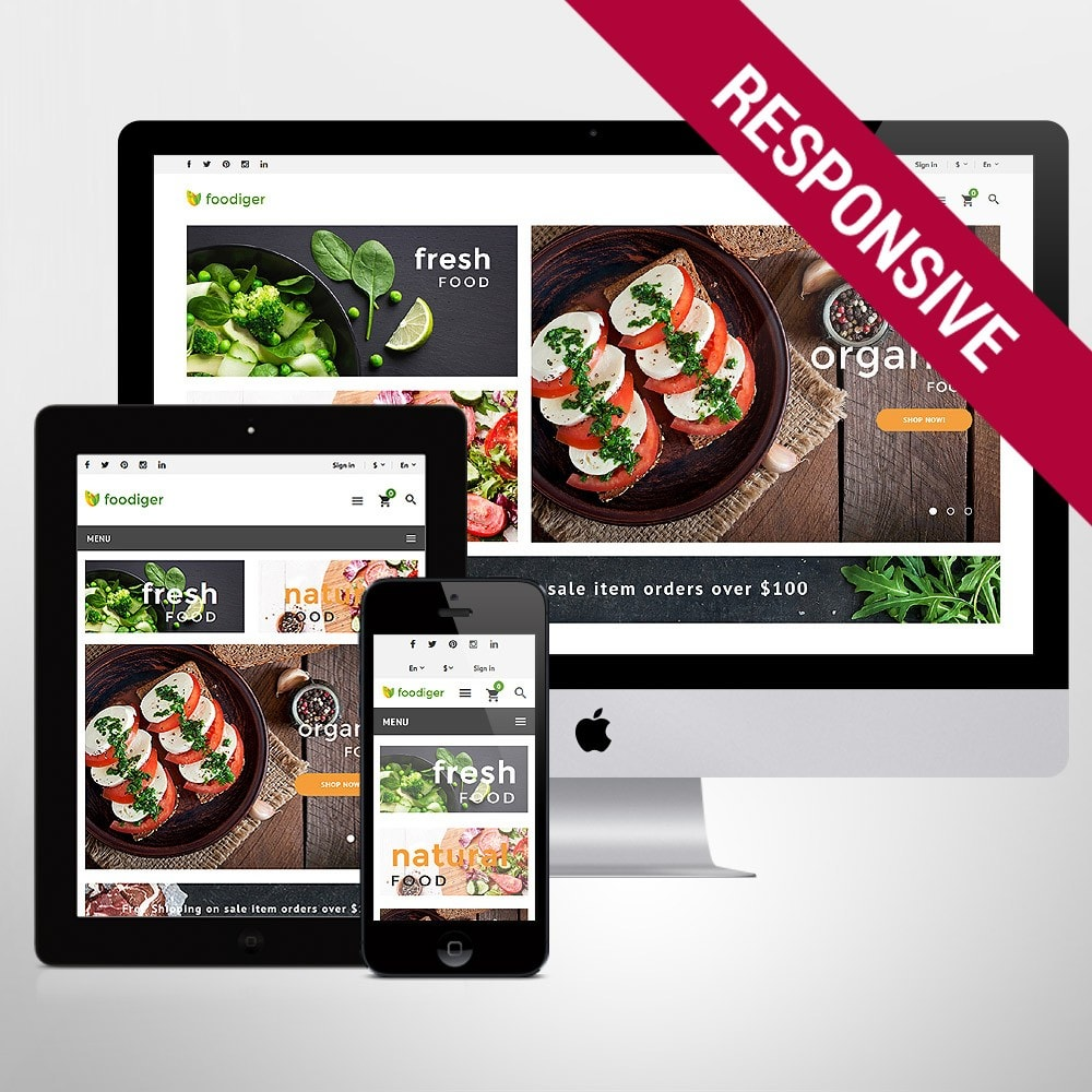 theme - Alimentation & Restauration - Foodiger - Grocery Store - 1