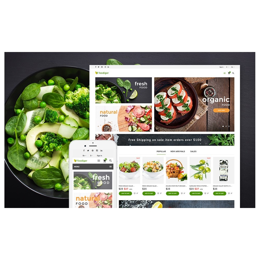 theme - Alimentos & Restaurantes - Foodiger - Grocery Store - 2