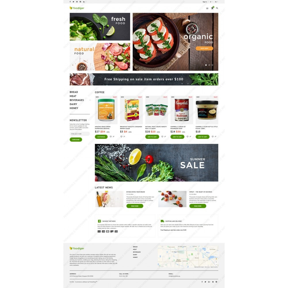 theme - Food & Restaurant - Foodiger - Grocery Store - 5