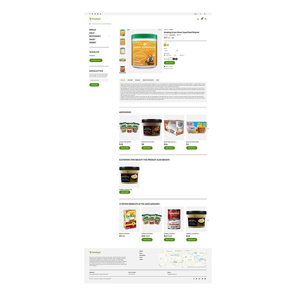 theme - Food & Restaurant - Foodiger - Grocery Store - 6