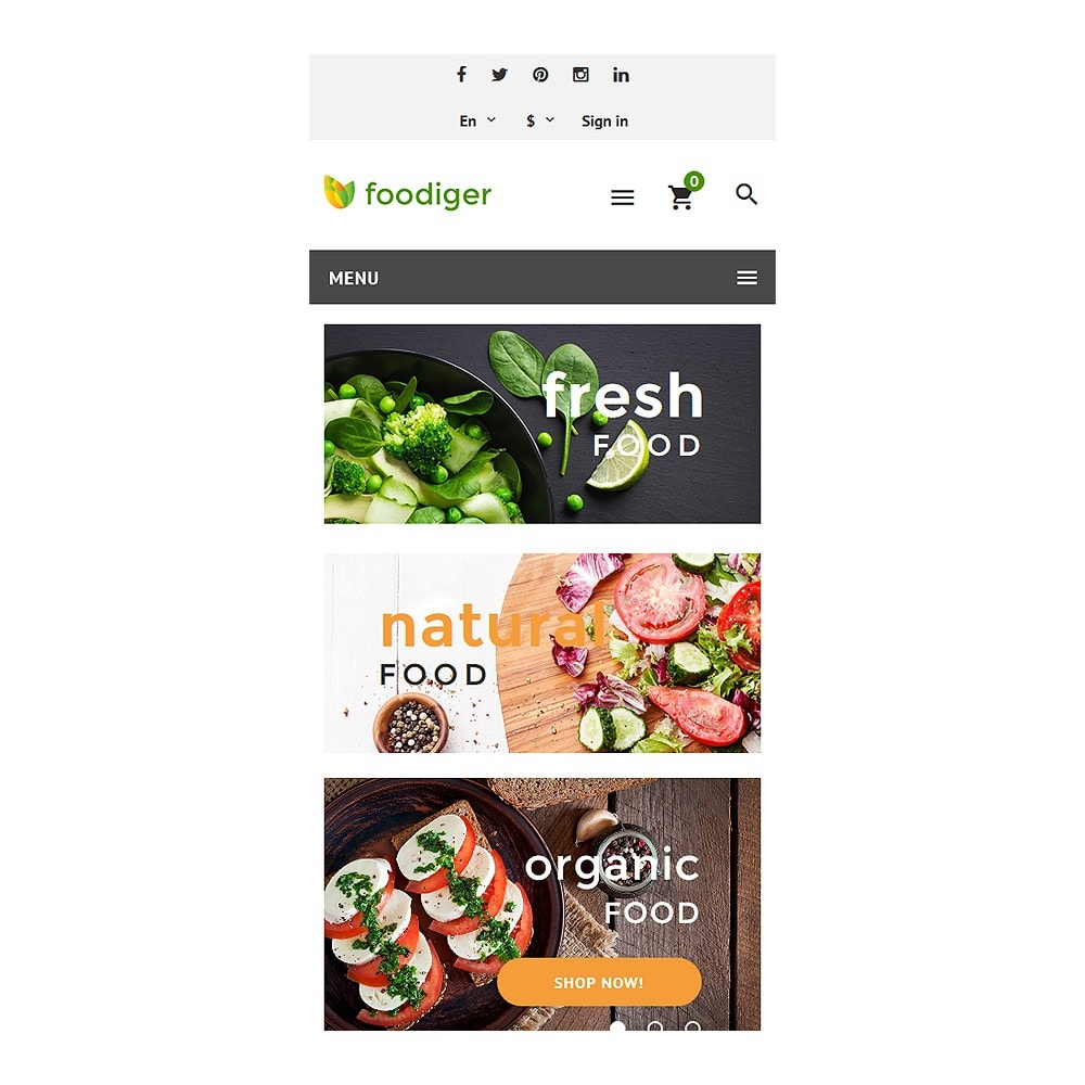 theme - Alimentos & Restaurantes - Foodiger - Grocery Store - 8