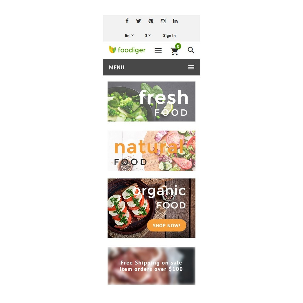 theme - Alimentos & Restaurantes - Foodiger - Grocery Store - 9