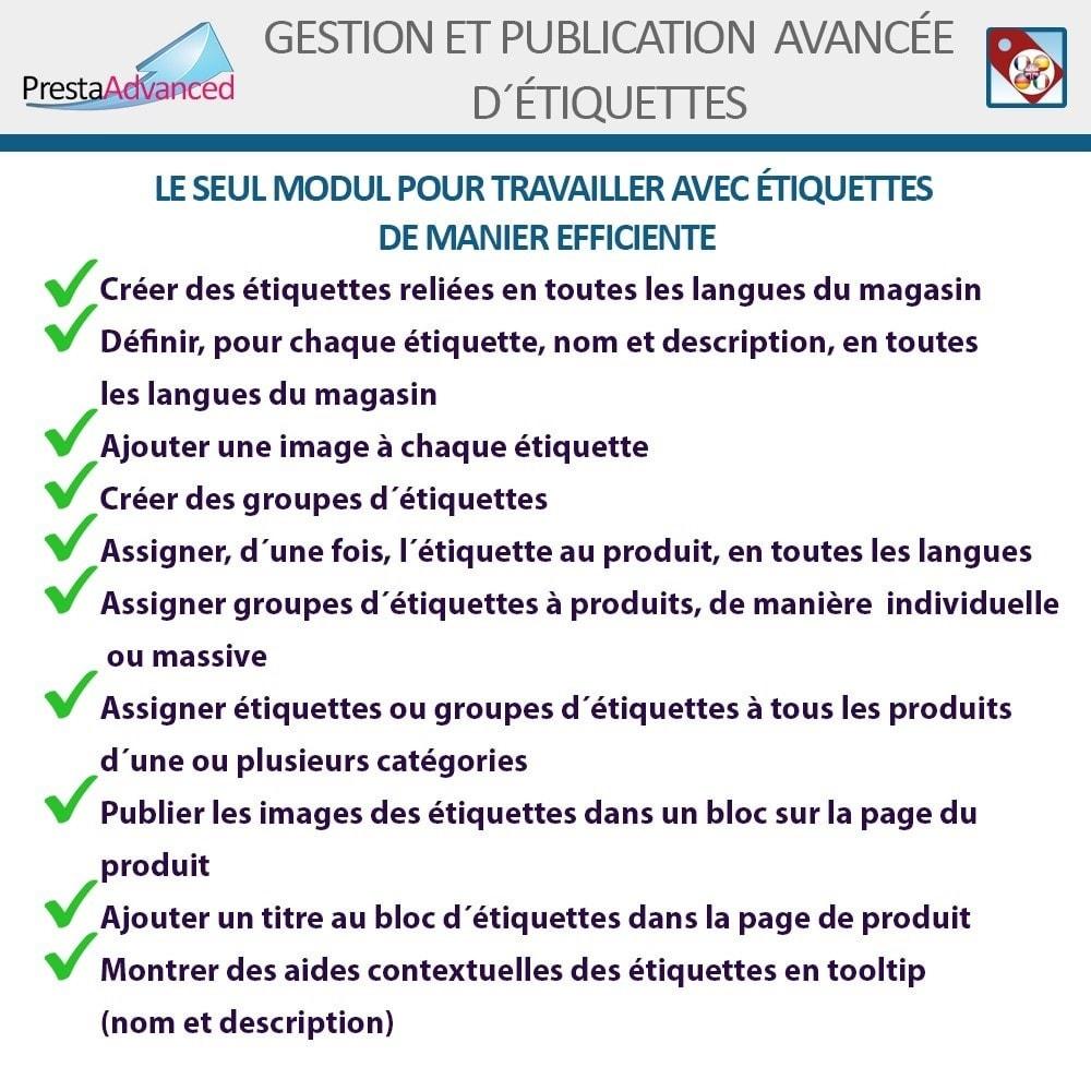 module - Etiquettes & Logos - Étiquettes: Gestion avancée et Publication - 2