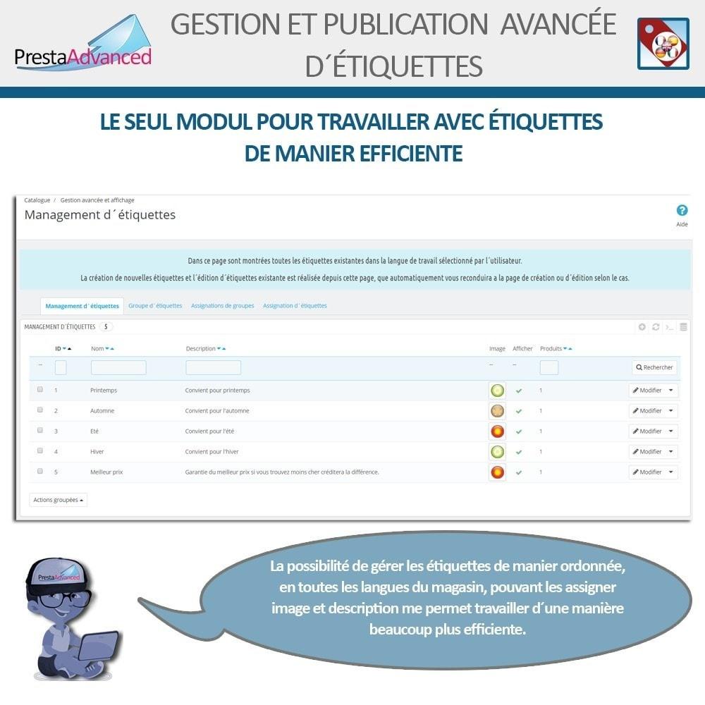 module - Etiquettes & Logos - Étiquettes: Gestion avancée et Publication - 3