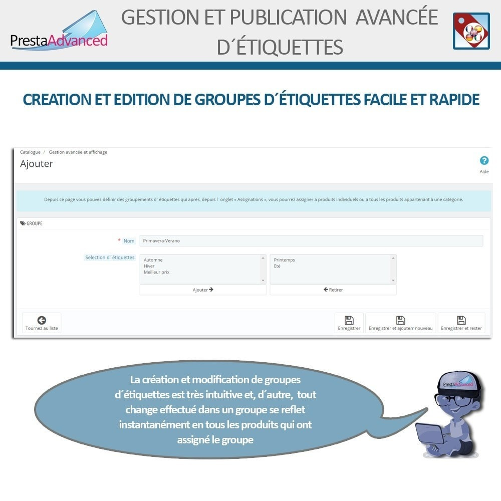 module - Etiquettes & Logos - Étiquettes: Gestion avancée et Publication - 6