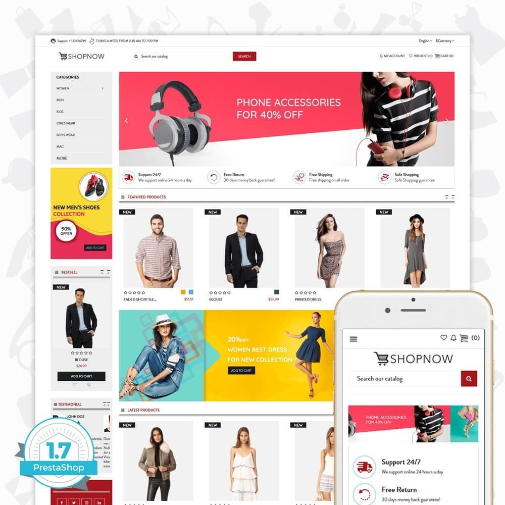 theme - Moda & Calzature - ShopNow V1 Fashion - 1