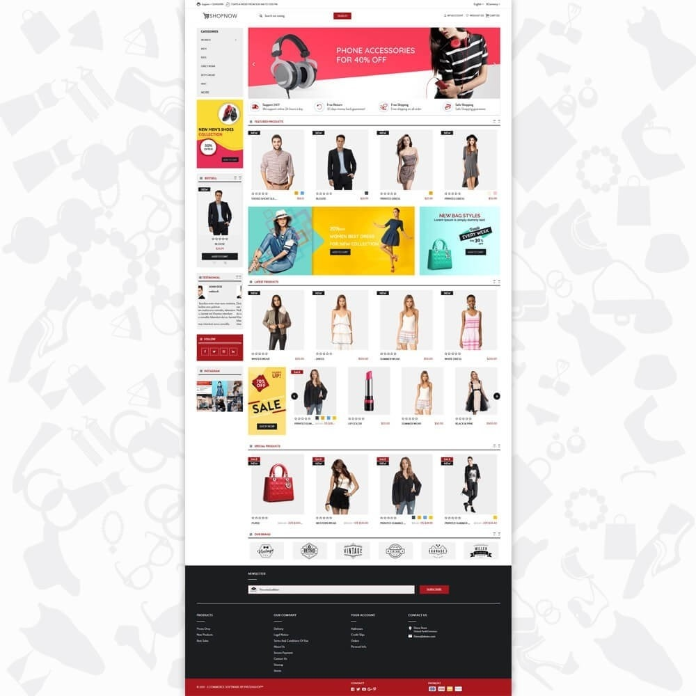 theme - Moda & Calzature - ShopNow V1 Fashion - 2