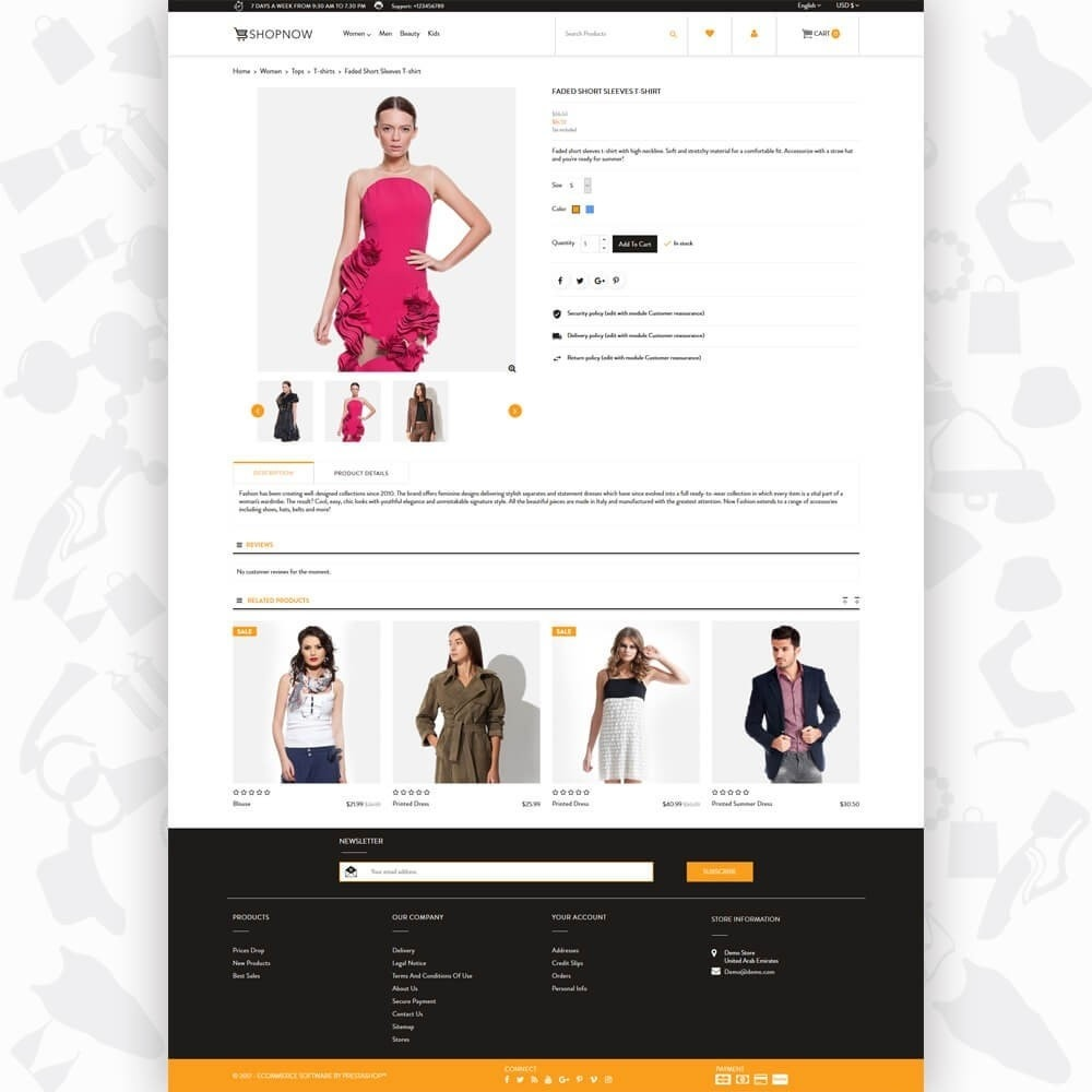theme - Мода и обувь - ShopNow V2 - Fashion - 5