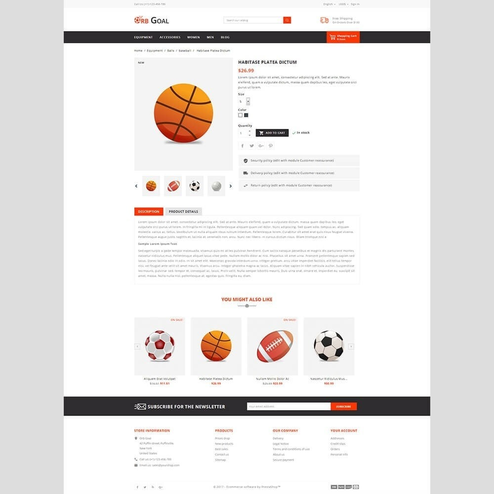 theme - Sports, Activities & Travel - Orb Goal Sports Store - 3