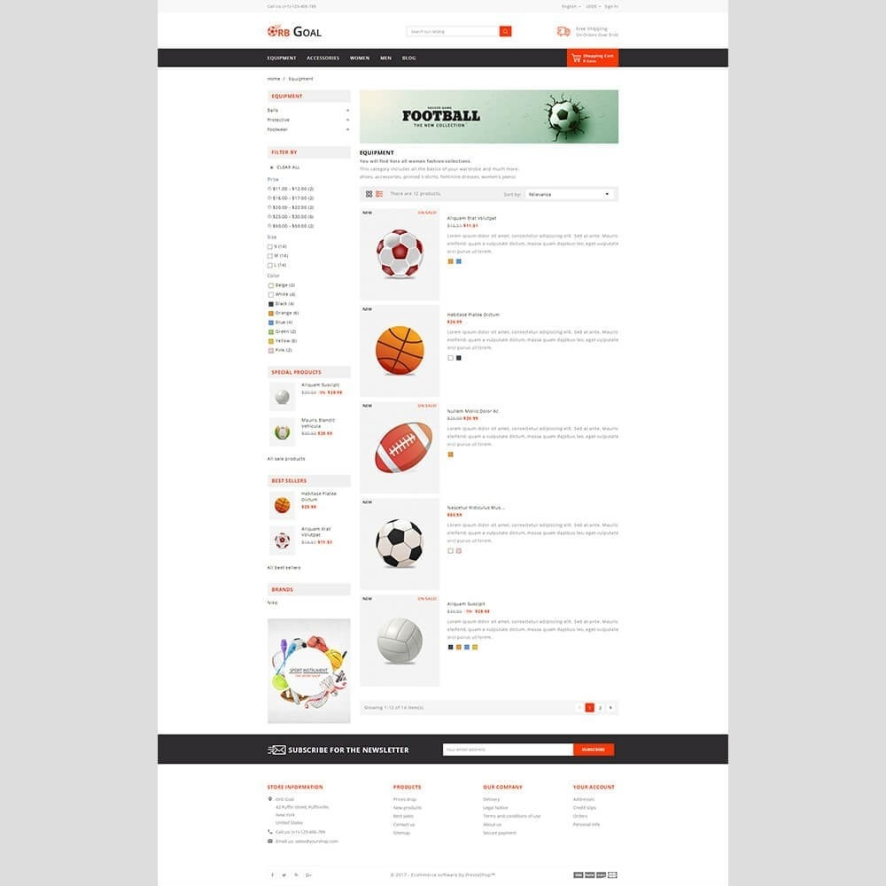 theme - Sports, Activities & Travel - Orb Goal Sports Store - 5