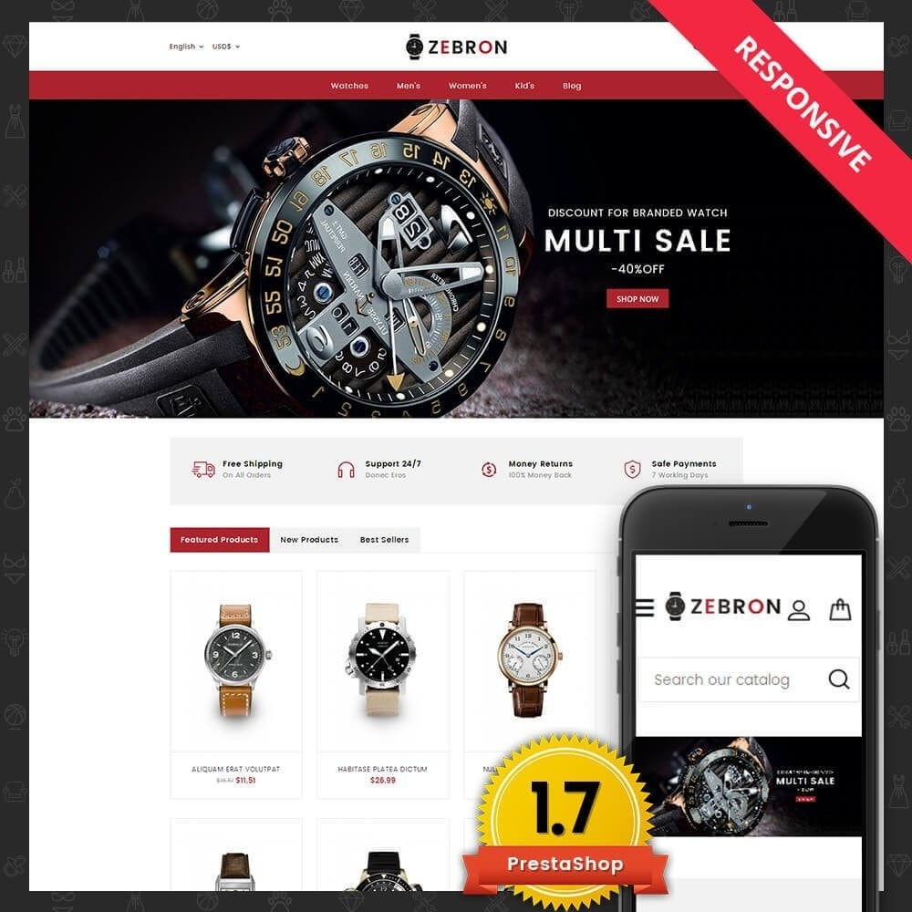 theme - Schmuck & Accesoires - Zebron watch store - 1