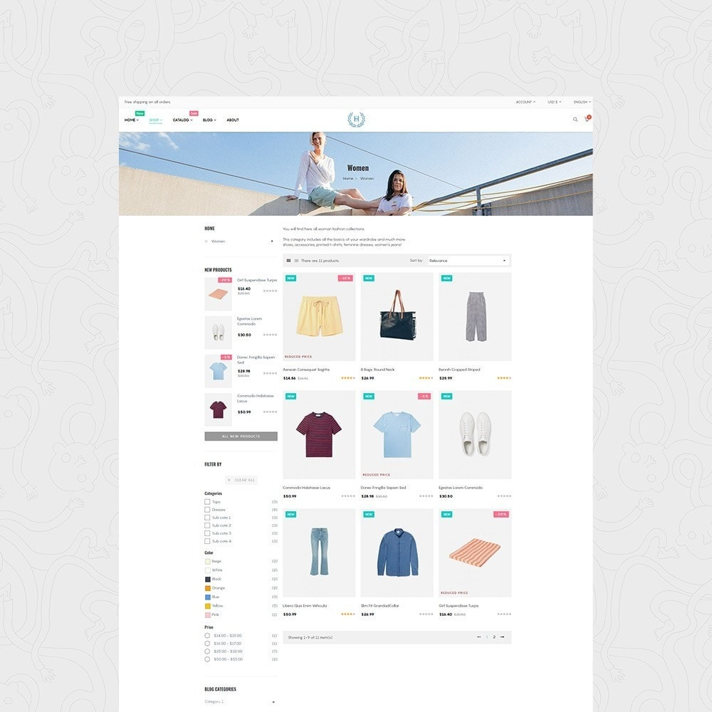 theme - Fashion & Shoes - H2 Fashion Store Responsive Multiple Prestashop Theme - 2