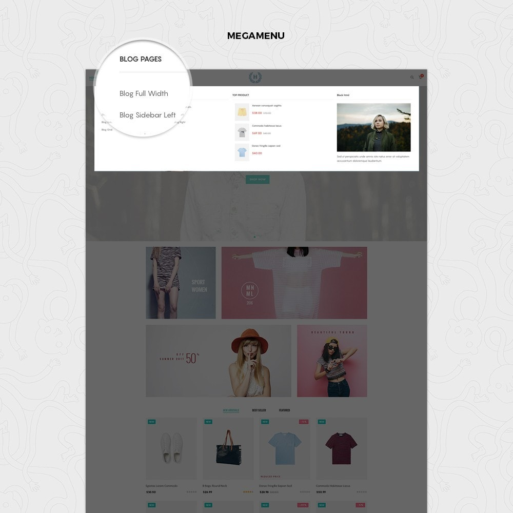 theme - Fashion & Shoes - H2 Fashion Store Responsive Multiple Prestashop Theme - 4