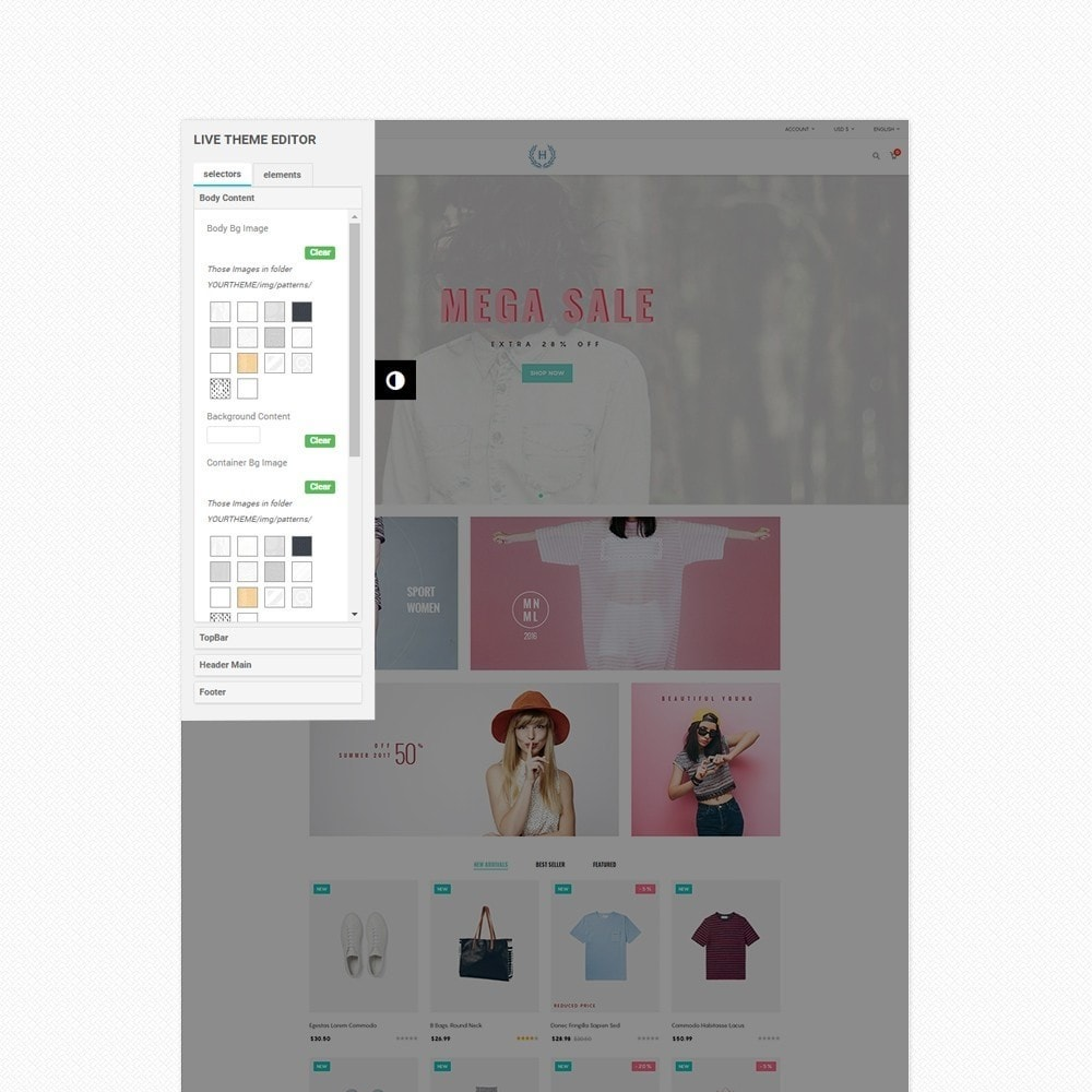theme - Moda & Calzature - H2 Fashion Store Responsive Multiple Prestashop Theme - 5