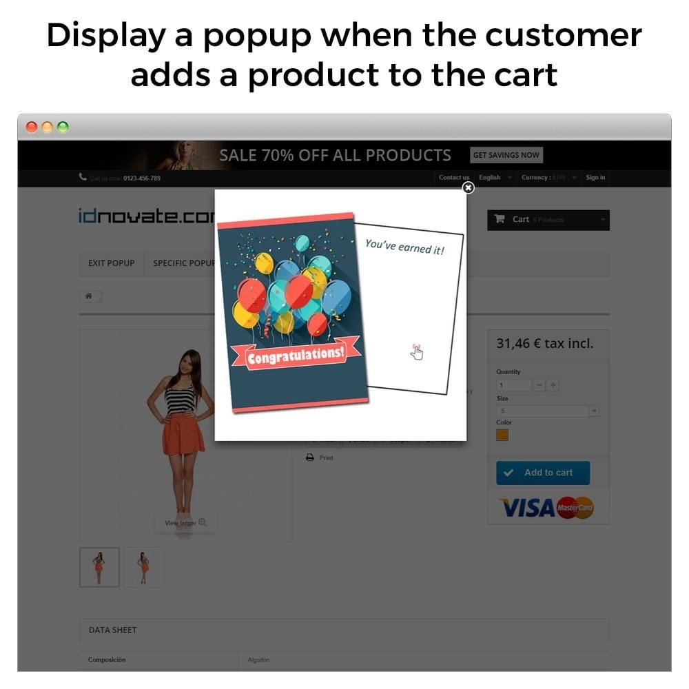 module - Dialoogvensters & Pop-ups - Popup on enter, on exit, when add to cart, newsletter - 5