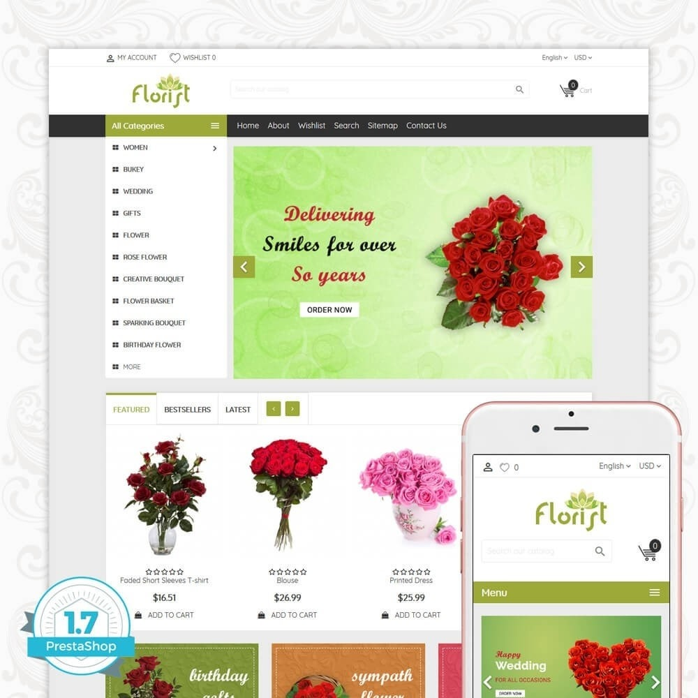 theme - Gifts, Flowers & Celebrations - Florist Flower Store - 1