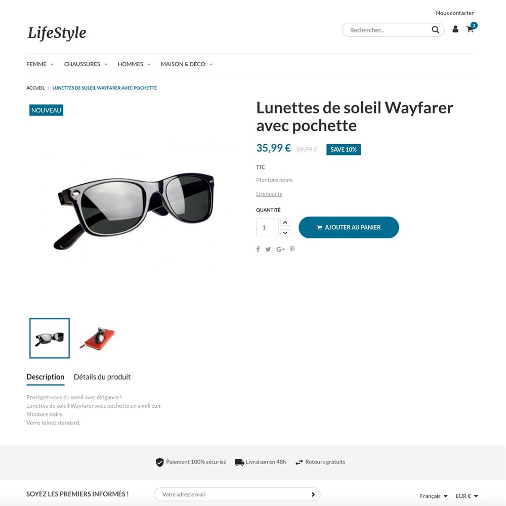 theme - Mode & Schoenen - LifeStyle by PrestaShop - Fashion & Design - 3