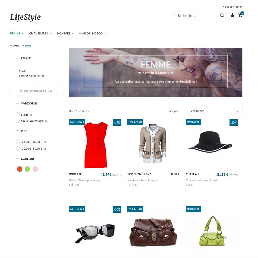 theme - Moda & Calçados - LifeStyle by PrestaShop - Fashion & Design - 2