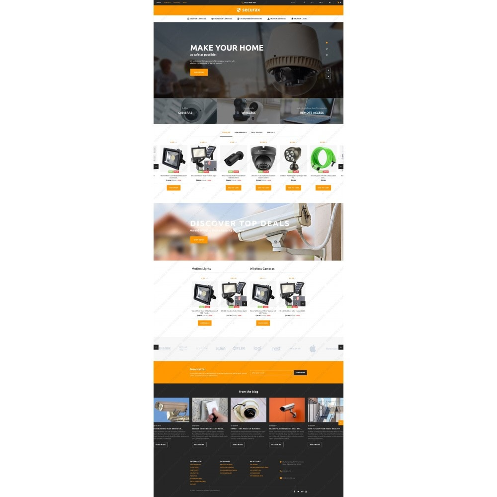 theme - Дом и сад - Securax - Security Systems Responsive - 3