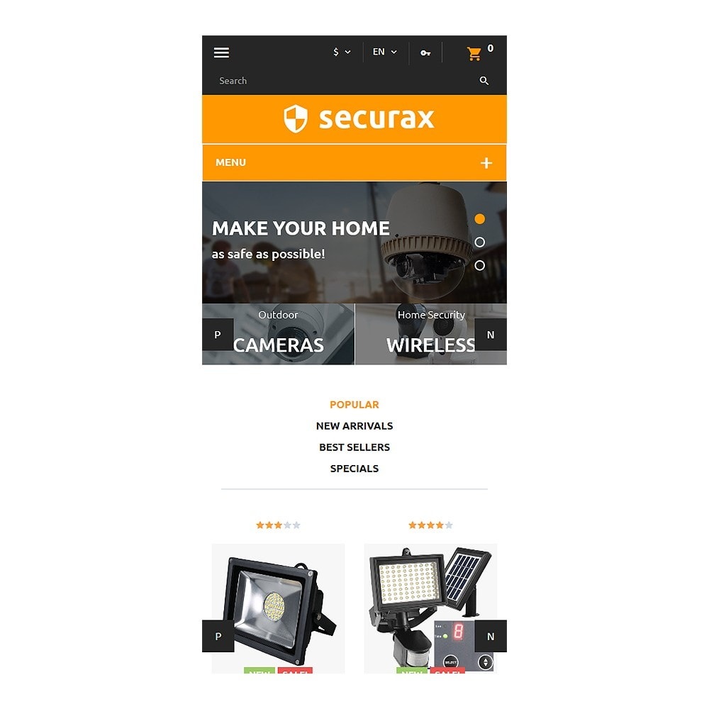 theme - Дом и сад - Securax - Security Systems Responsive - 9