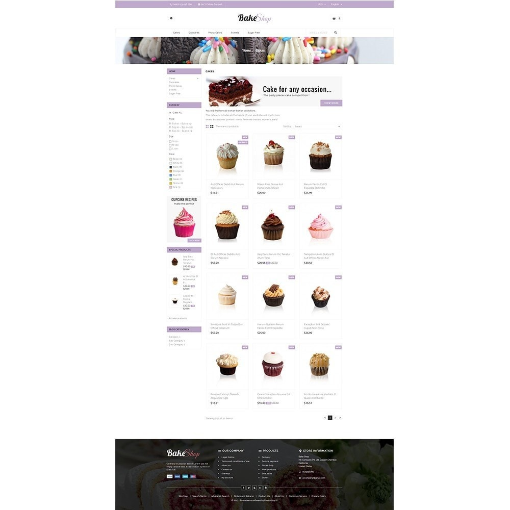 theme - Alimentation & Restauration - Bake Shop - 3
