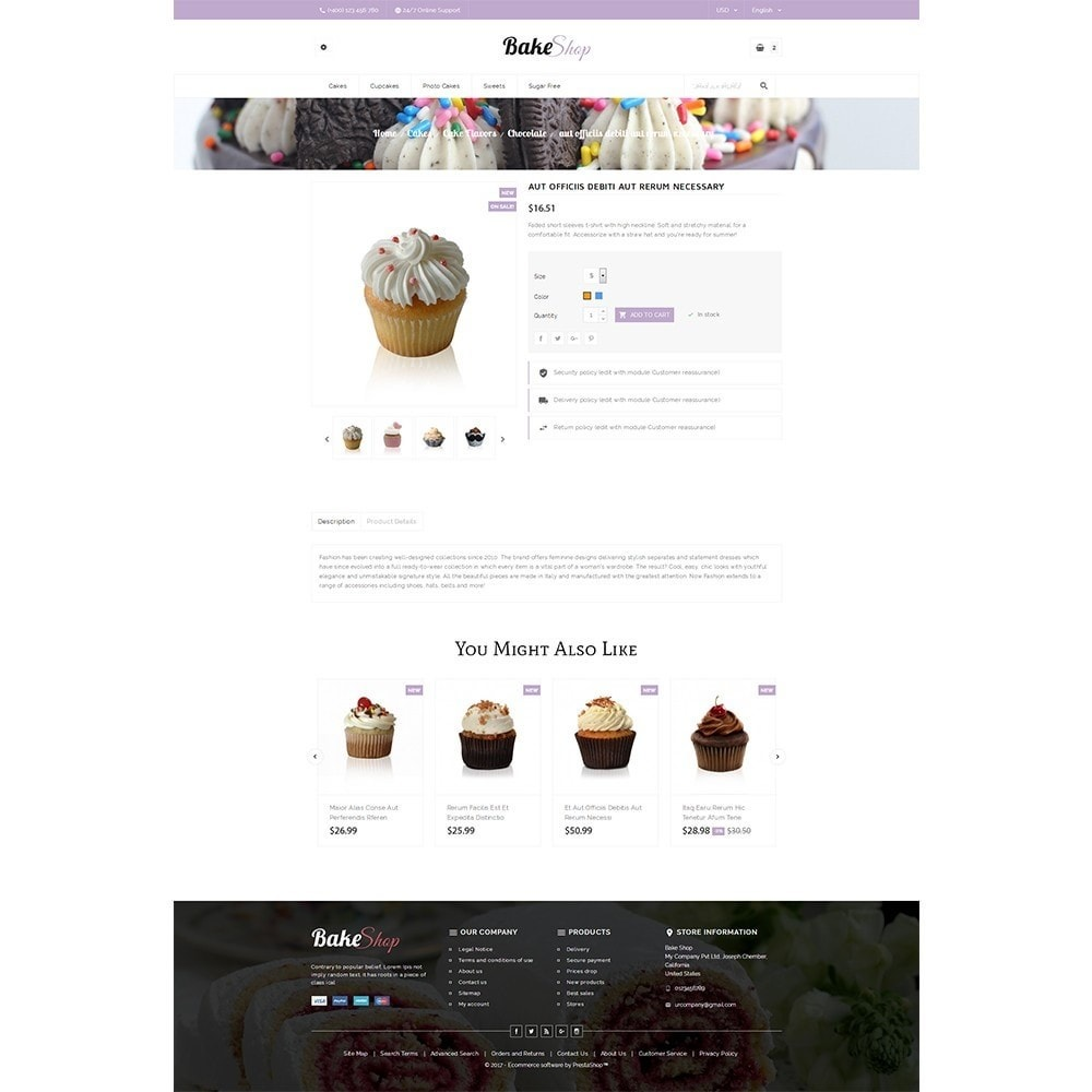 theme - Alimentation & Restauration - Bake Shop - 5