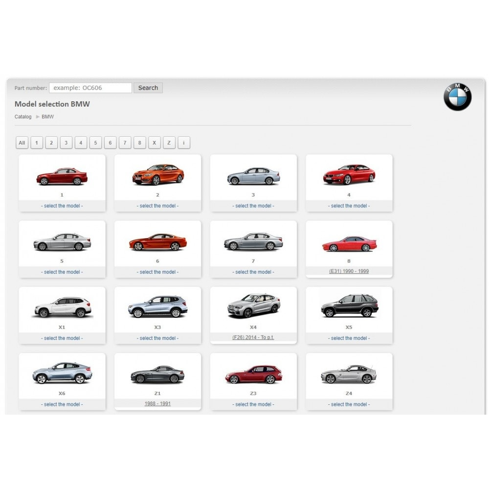 module - Edition rapide & Edition de masse - iTecDoc car parts search module  Web-catalog - 3