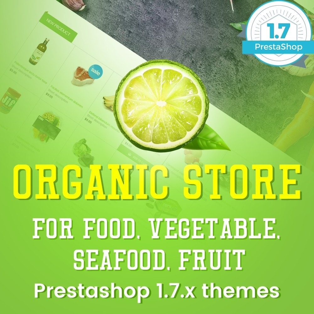 theme - Продовольствие и рестораны - Organic Food, Drinks, Fruit Store - 1