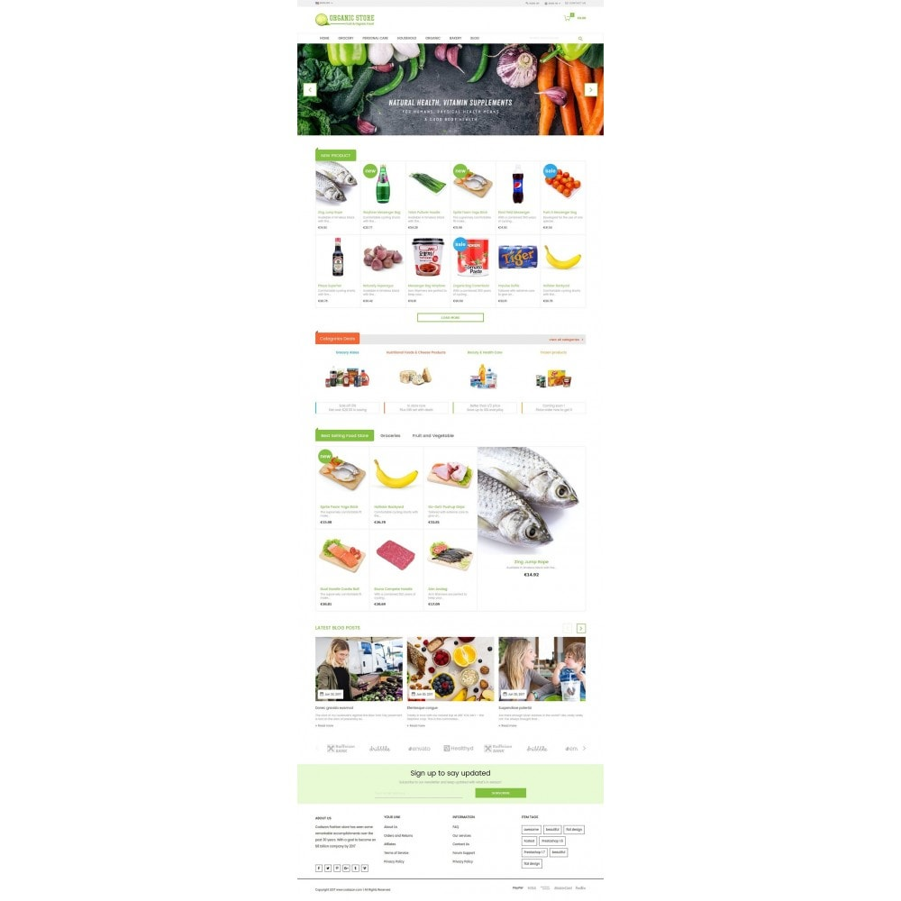 theme - Продовольствие и рестораны - Organic Food, Drinks, Fruit Store - 2