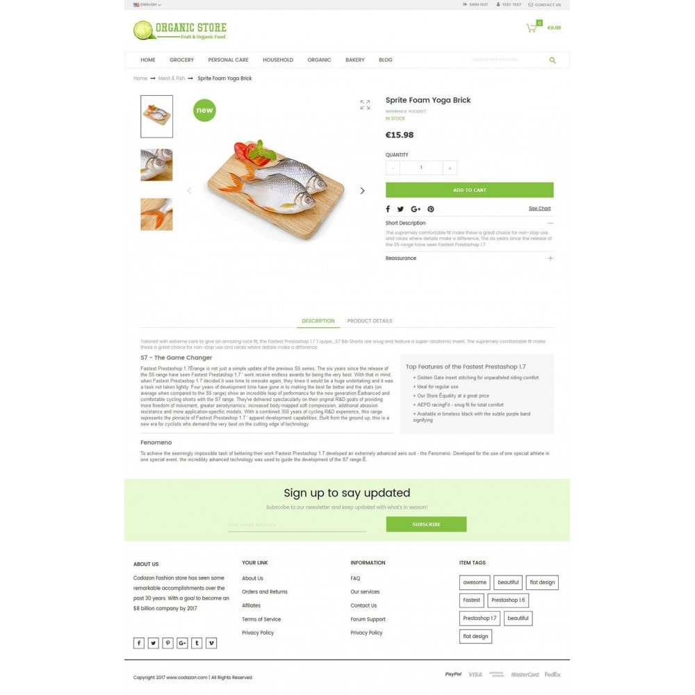 theme - Alimentos & Restaurantes - Organic Food, Drinks, Fruit Store - 4