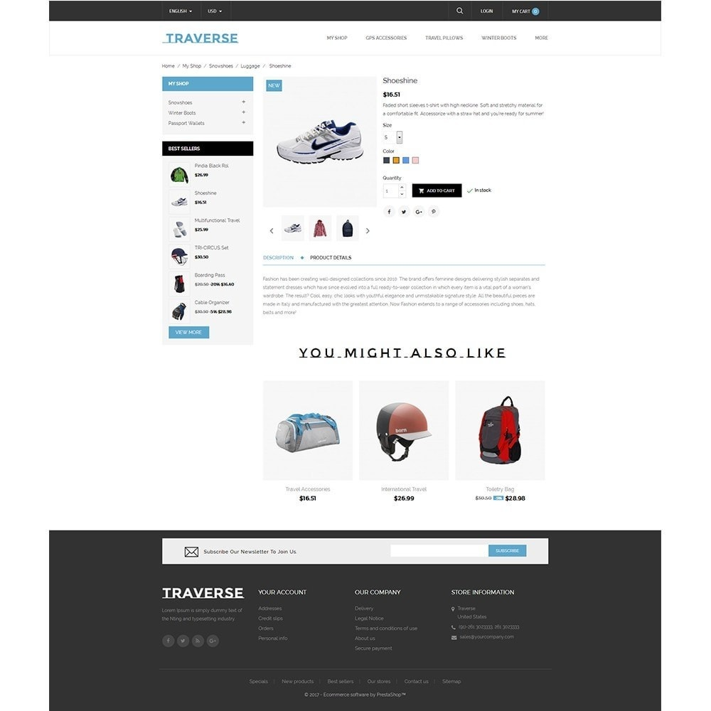 theme - Sports, Activities & Travel - Traverse Store - 5